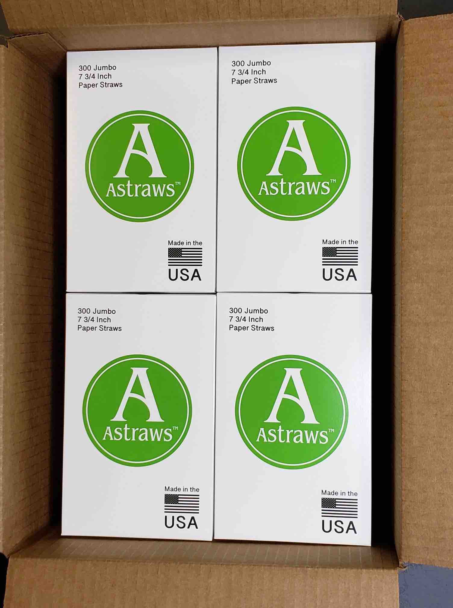 Astraws boxed paper straws water resistant eco friendly 2