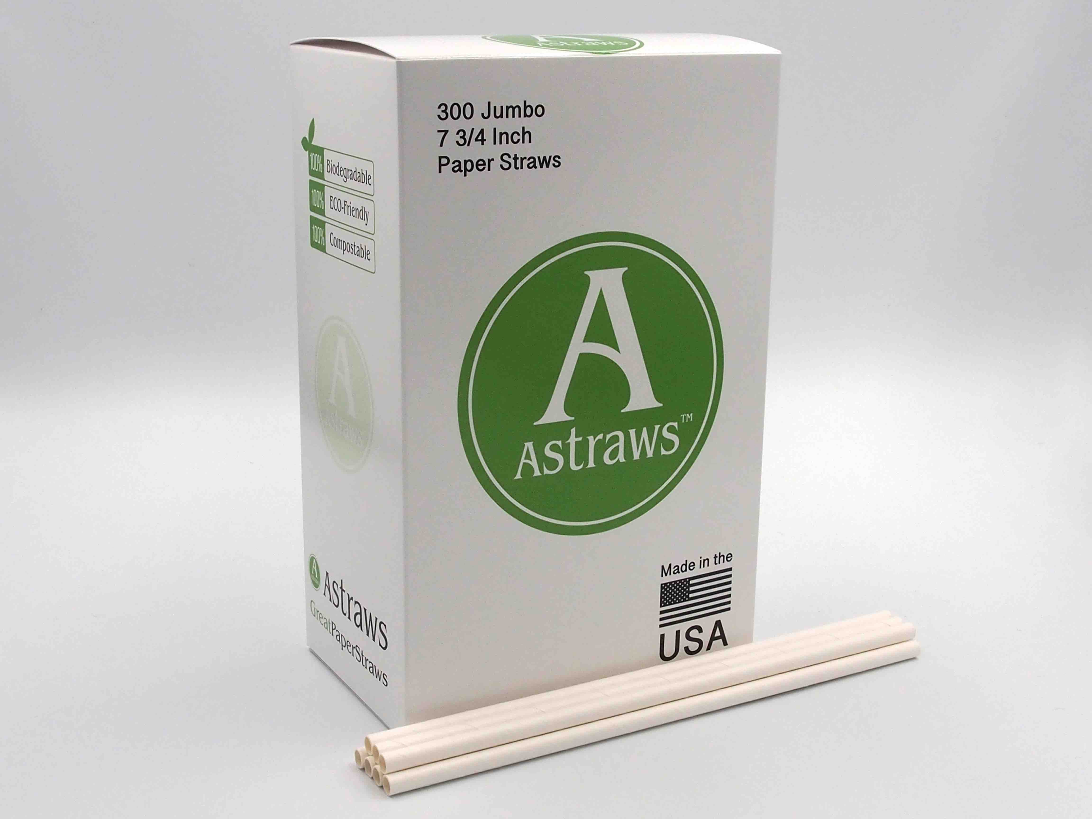 Astraws water resistant paper straws 300 count 2