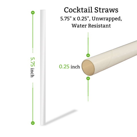 cocktail straws in bulk for restaurants bars