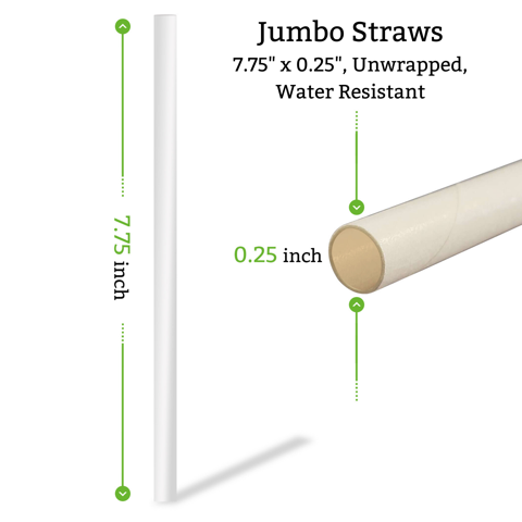 jumbo straws unwrapped bulk for restaurants