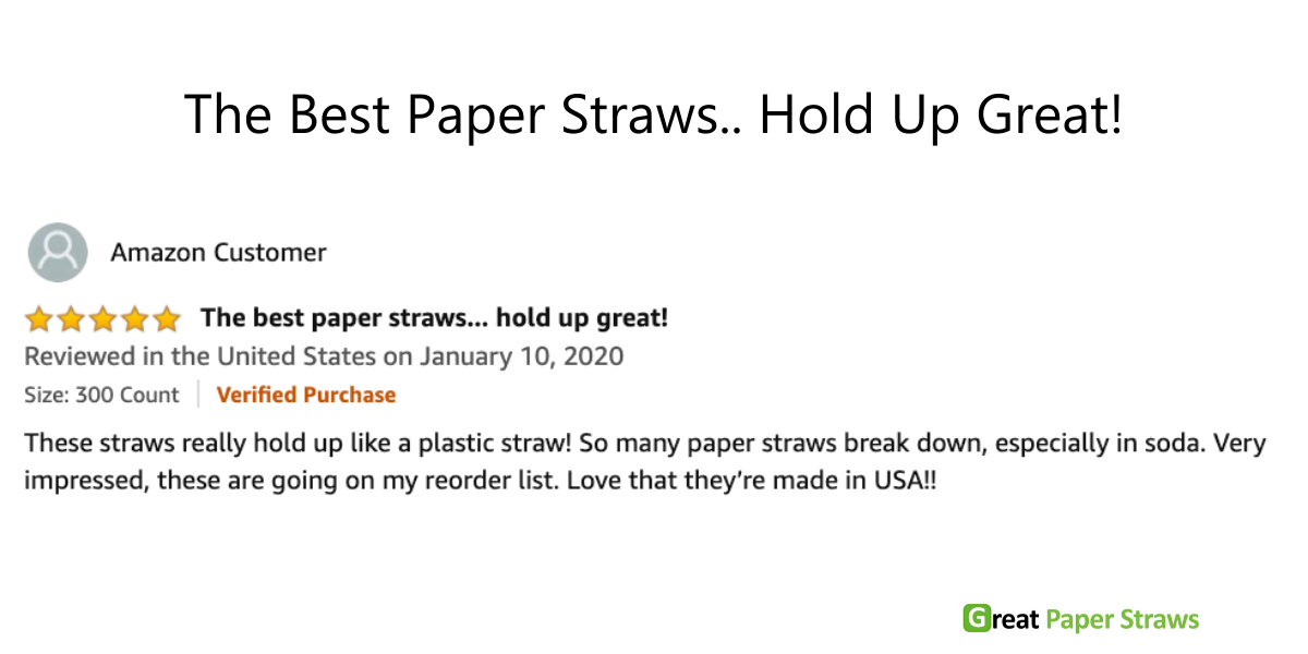 best paper straws made in usa hold up great